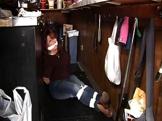 Barmaid Elane Tied Up Gagged  Robbed