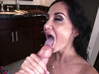 Milf Ava Adams Does Titjob & Gets Big Cum Load