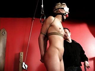Bound Bitch Gets Dilod In Her Snatch