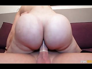Sexy Shemale With Huge Ass And Tits Takes Hard Cock