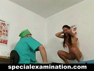 Young Brunette Passes Medical Examination