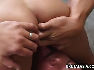 Two Hot Sluts Are Fucking The Dude In A Threesome