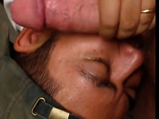Latino Cub Sucks Off Huge White Dick Public Restroom