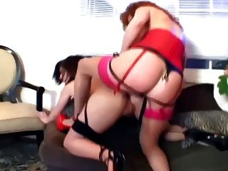Ffm Threesome Of Babes Fucking In Sexy Lingerie