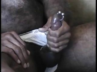 White Chested Ebony Daddy Strokes