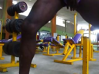 Str8 Stroke & Cum In The Gym