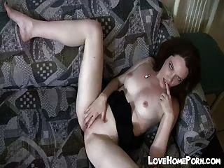 Ex Emo Babe Plays With Her Freshly Shaved Pussy