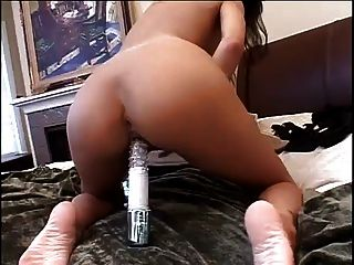Trinity Vibrates Her Big Wet Pussy