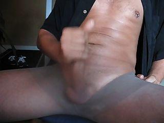 Cumming In Pantyhose While Watching Porn