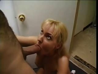 Blonde Mature Sucks Fat Cock And Gets His Cum