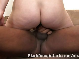 Short Haired Blonde Fucks A Black Cock