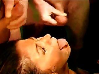German Bukkake Lady Gets Face Plastered