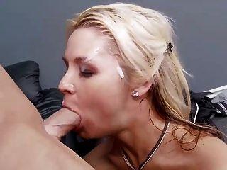 Sarah Vandella Gets Facialized By Big Cock