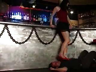 Foot Worship In A Bar