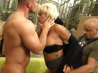 Blond German Milf Hard Dpp And Dap