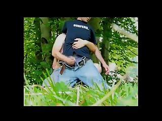 Dude Gets A Reach Around Hand Job In Woods