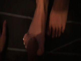 Cum On Feet French Pedicure
