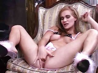 Fingering And Toying On A Chair