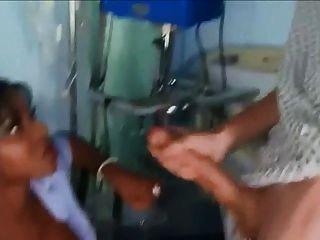 Beautiful Ebony Nurse Huge Monstercock Facial
