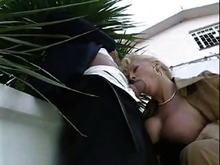 Milf Take A Drink Outdoor..
