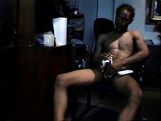 Black Dude Spanking The Monkey
