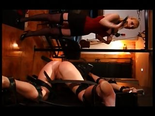Slut Inverted On The Wheel And Gets Ass Spanked