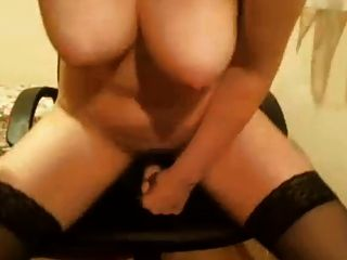 Milf Masturbating And Getting Wet Riding A Dildo
