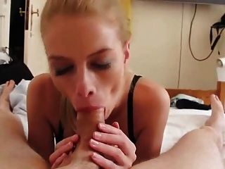 She Is So Calm, Blow And Teasing Blonde Tongue