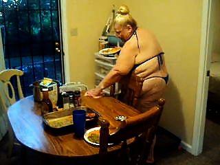 In The Kitchen In Swimesuit