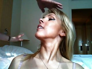Hot Blonde Facialized After Riding