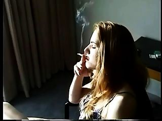 Sexy Blonde Smoking With Awesome Inhales!