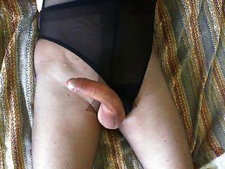 Masturbation And Cumshot On Pantyhose
