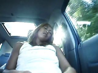Naughty Tanned Girl Gets Fucked  In The Car