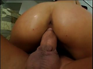 Young Brunette Cock Sucker With Shaved Young Pussy Gets Fucked Hard