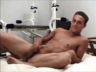Horny Jock Busts A Nut