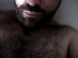 Hairy Guy Cums In His Mouth