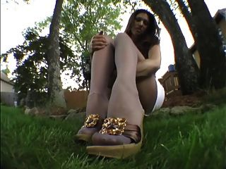 Nice Girl With Nylon Feet 6