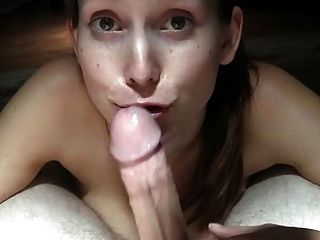 Lovely Brunette Sucks A Cock While Gives Instructions
