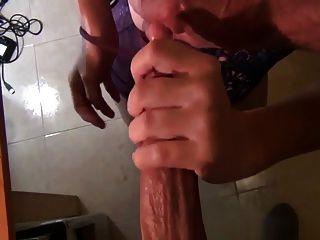 Preggy Milf Milking His Dick