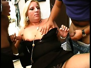 Sandrine Fucked In A Threesome
