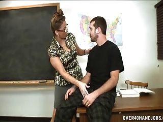 Handjob Punishment By The Dominating Milf