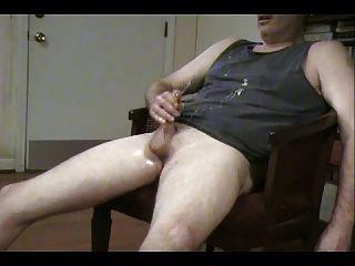 Jacking My Rock Hard Cock Pt 2 With Big Cumshot