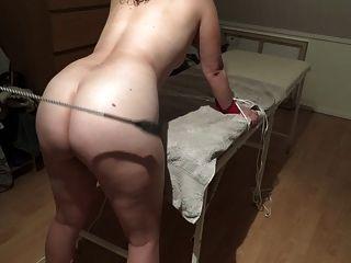 Danish Girl Light Spanking With Whip - Lidt Blid Bondage Leg