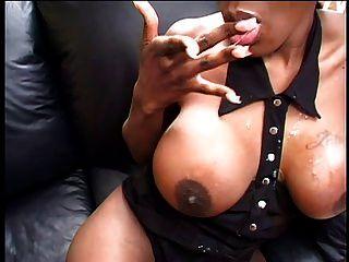 Black Porn Kitten Banged On Sofa