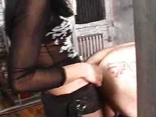 Brunette Mistress In Dungeon