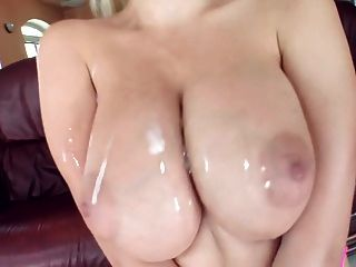 Big Breasts Get Glazed With Sperm