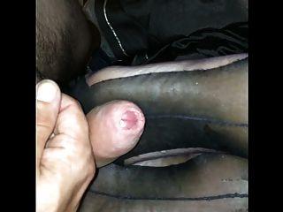 Grey Stocking Footjob