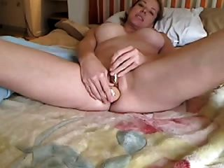 Amateur Milf Masturbates And Squirts