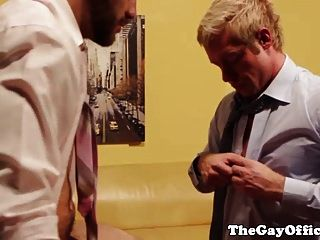 Horny Office Muscled Hunks Ass Fucking