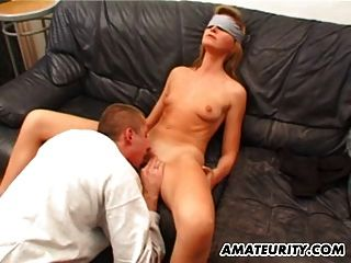 Blindfolded Amateur Girlfriend Sucks And Fucks